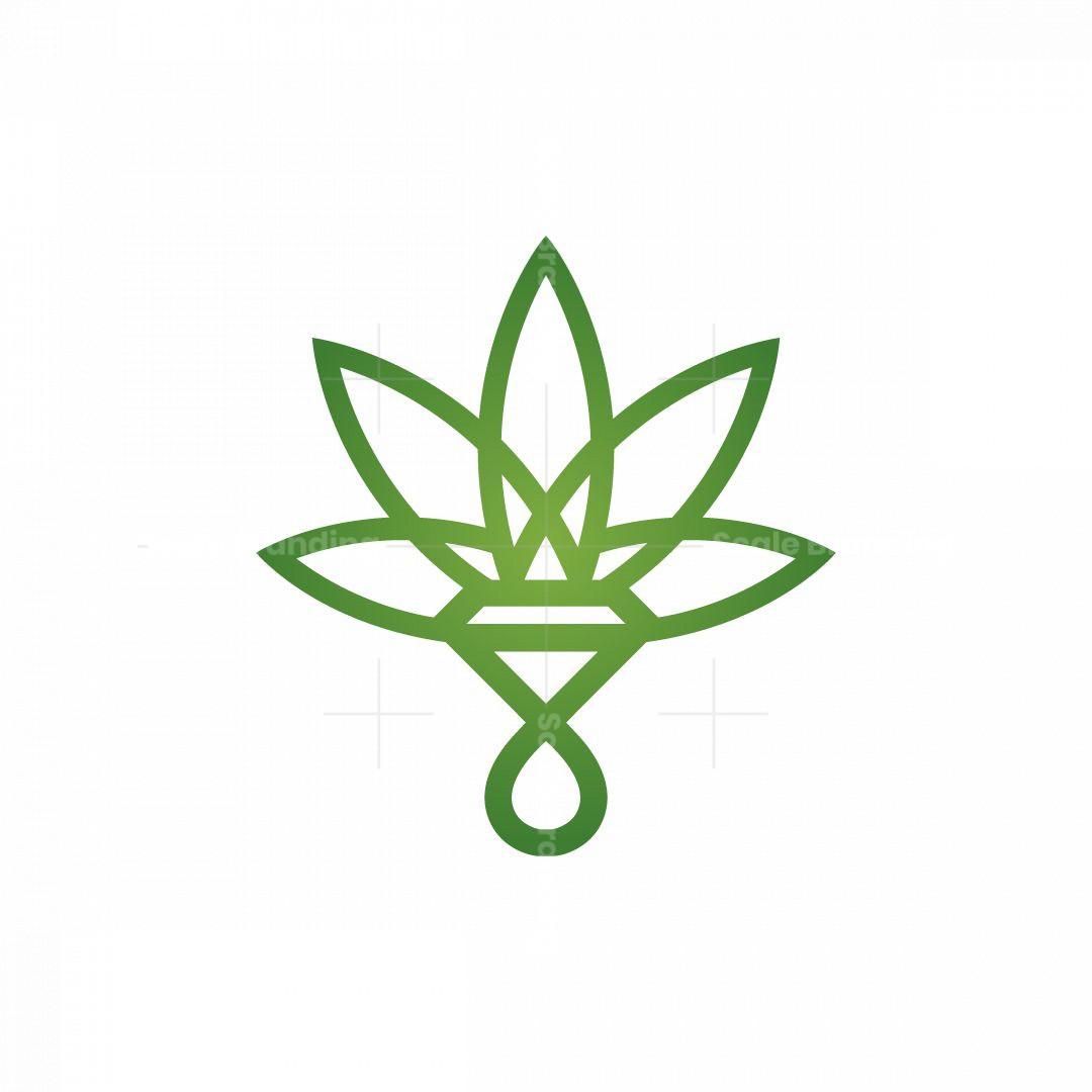 Diamond Cbd Oil Cannabis Logo