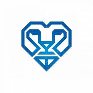 Diamond Luxury Lino Head Logo