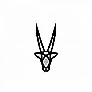 Luxury Oryx Head Logo