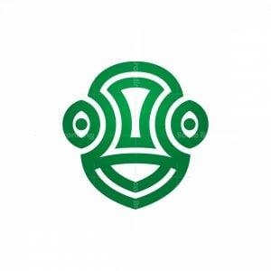 Chameleon Head Logo