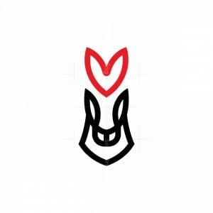 Healthcare Horse Logo Heart Horse Logo