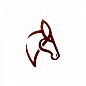 Stylized Horse Head Logo Stallion Logo