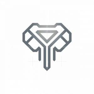Luxury Elephant Logo Elephant Head Logo