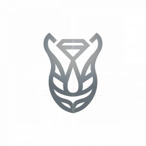 Luxury Rhino Logo Rhino Head Logo