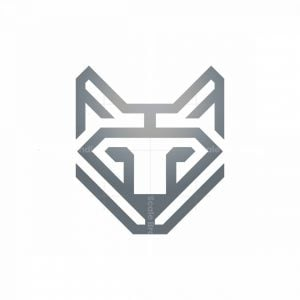 Luxury Silver Wolf Logo