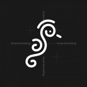 Minimal Seahorse Logo