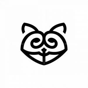 Raccoon Logo Raccoon Head Logo