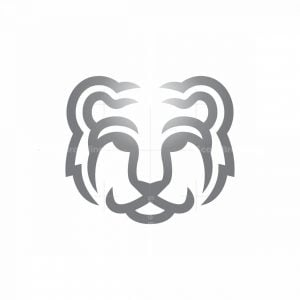 Grey Tiger Head Logo Tiger Logo