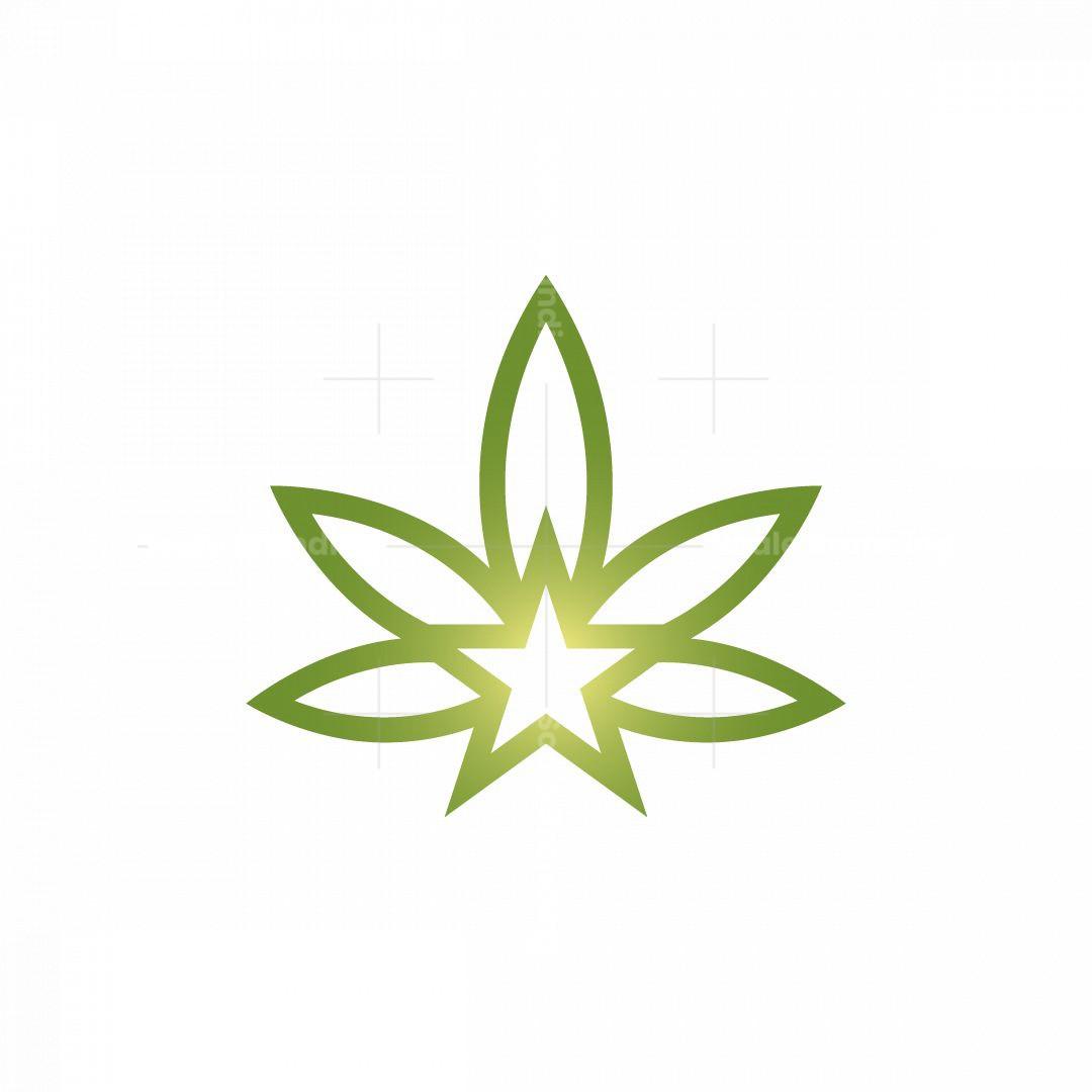 Stellar Cannabis Logo Hemp Logo