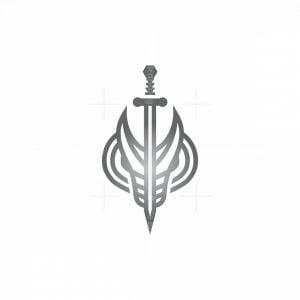 Sword Dragon Head Logo