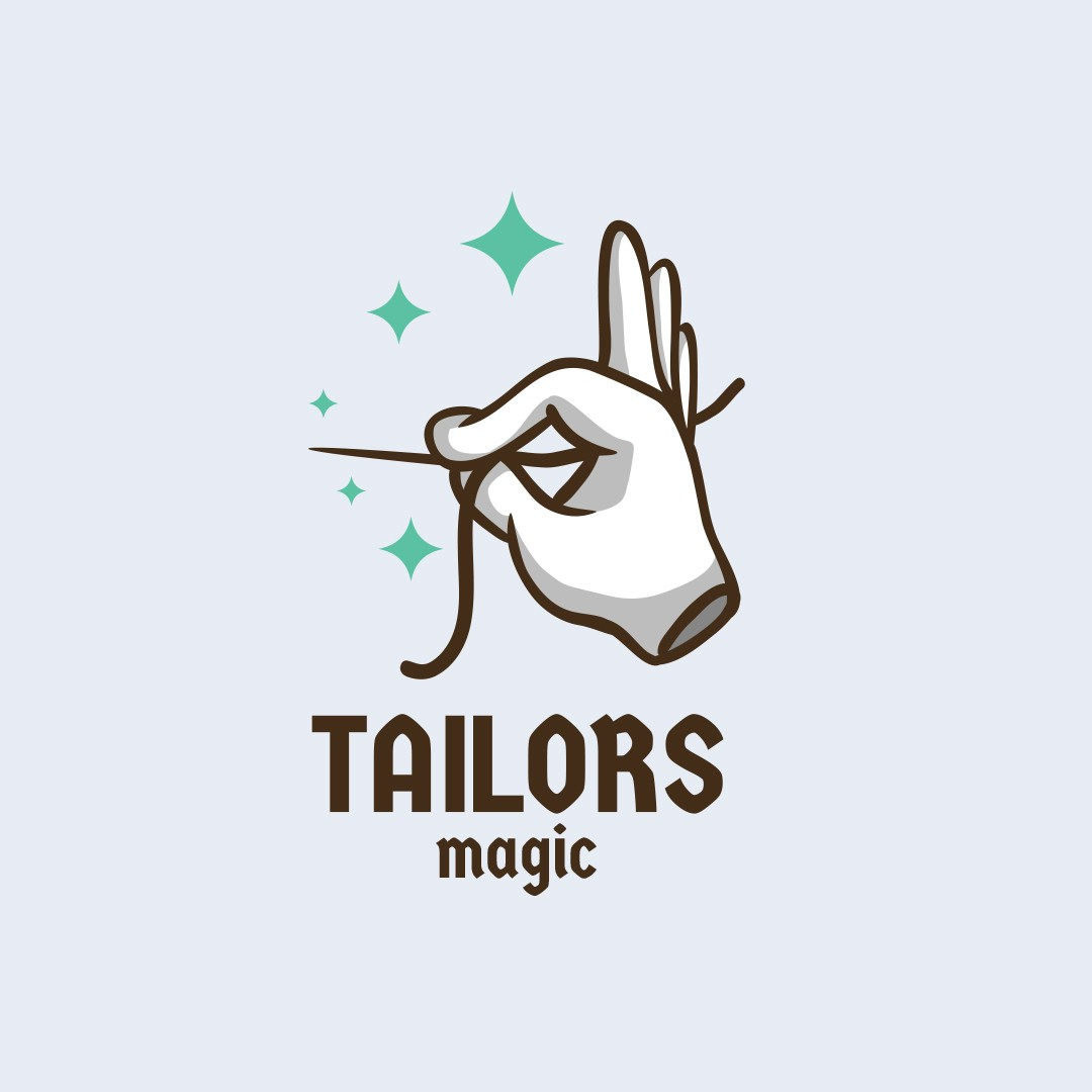 Sewing Theme Tailoring Logo