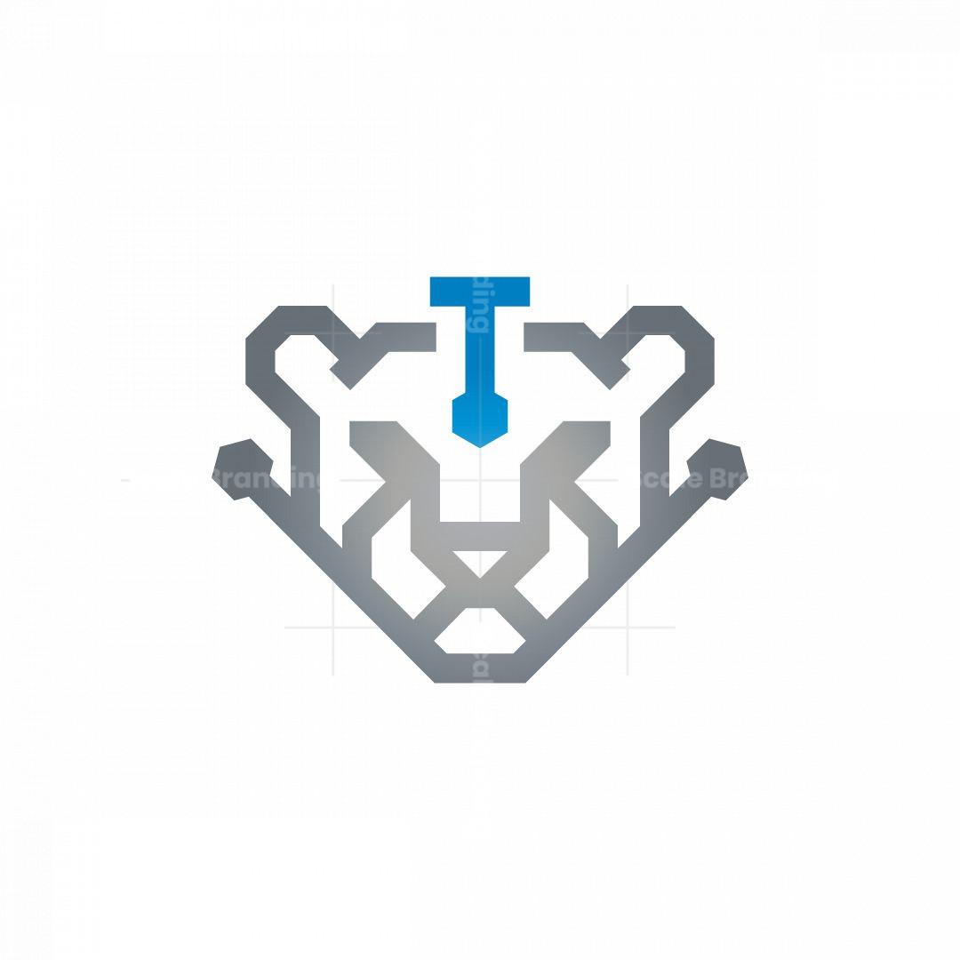 Cyber Letter T Jaguar Logo