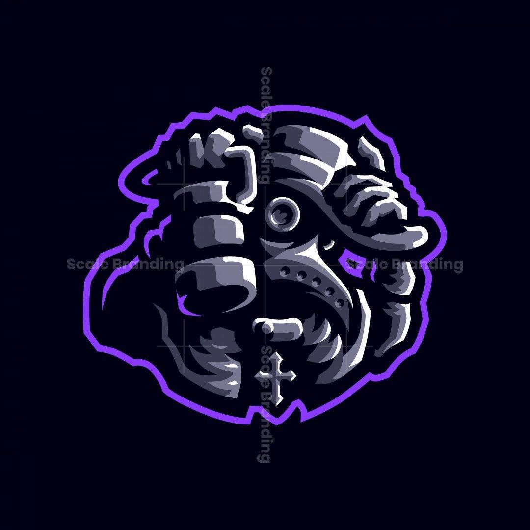 Black Death Plague Doctor Esports Mascot Logo Design