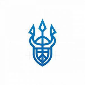 Trident Helmet Neptune Logo