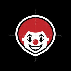 Smiling Clown Mascot Logo