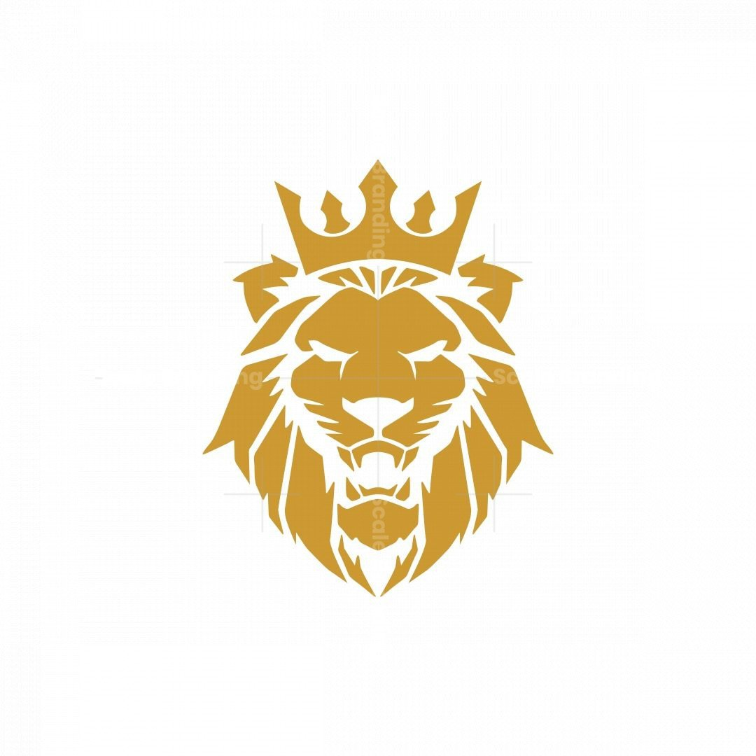 Angry Lion With Crown Logo