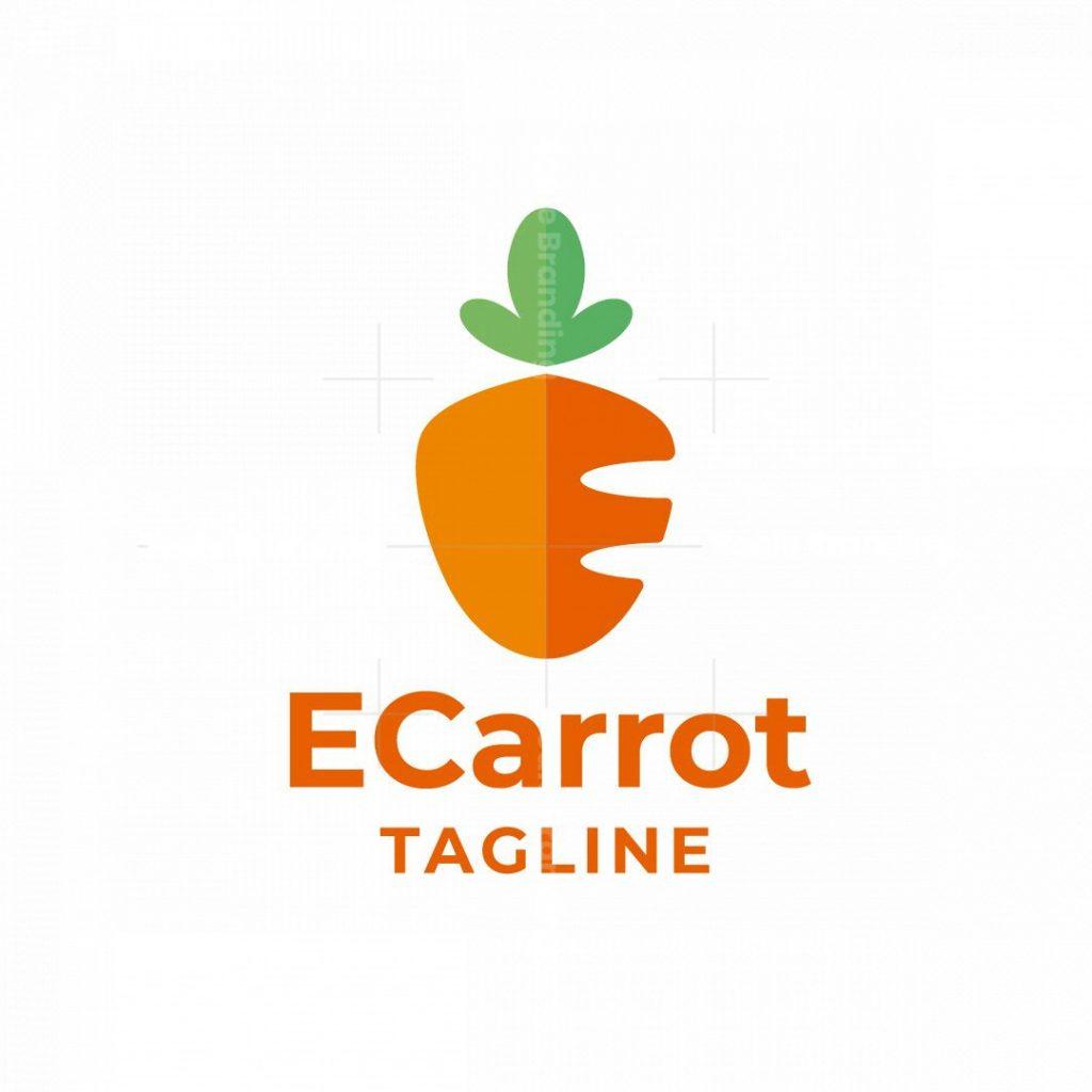 E Carrot E Letter Logo