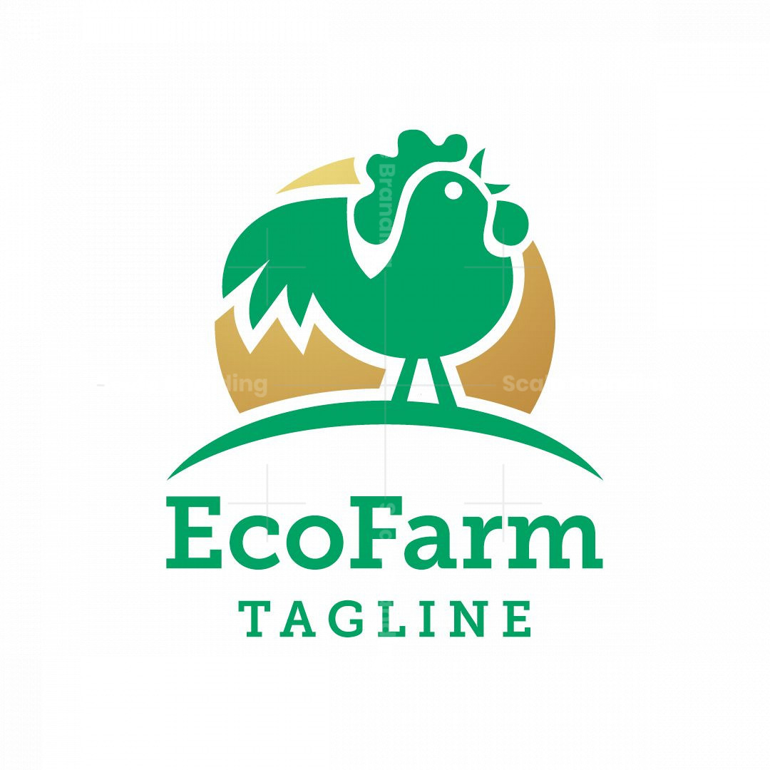 Eco Farm Rooster Logo