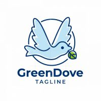 Green Dove Logo