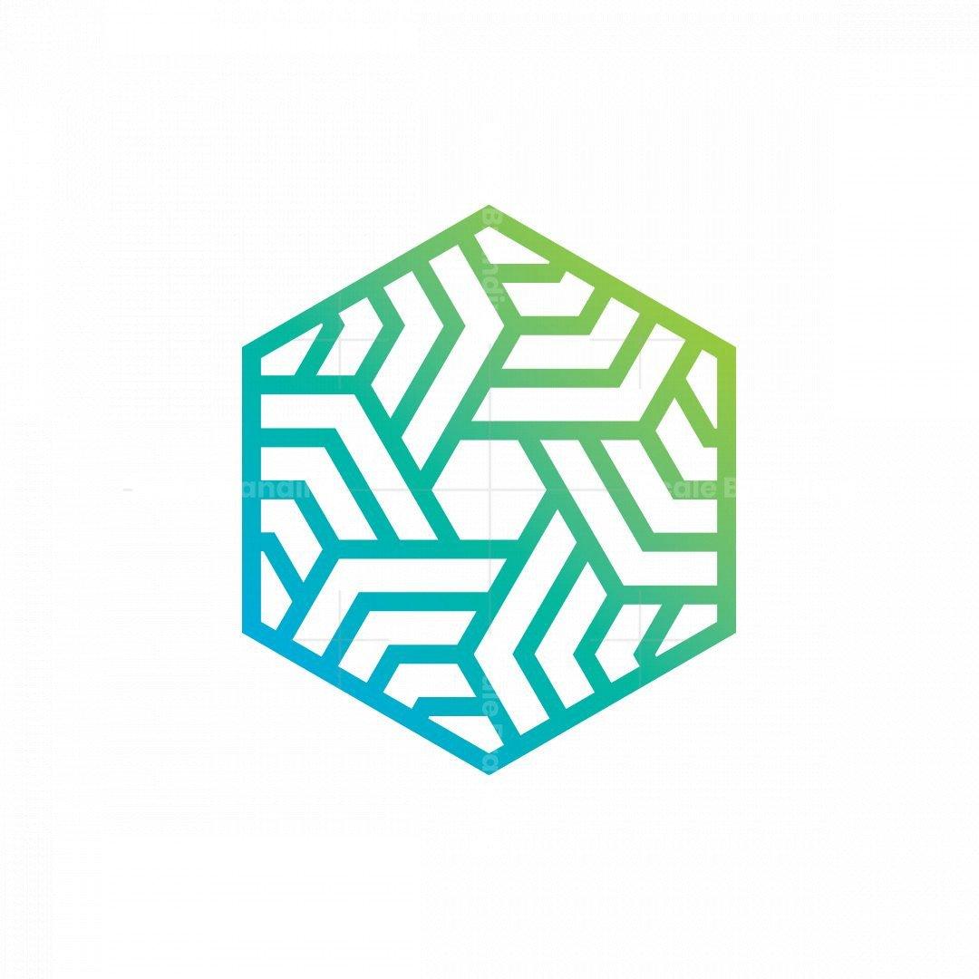 Hexagon Tech Bold Logo