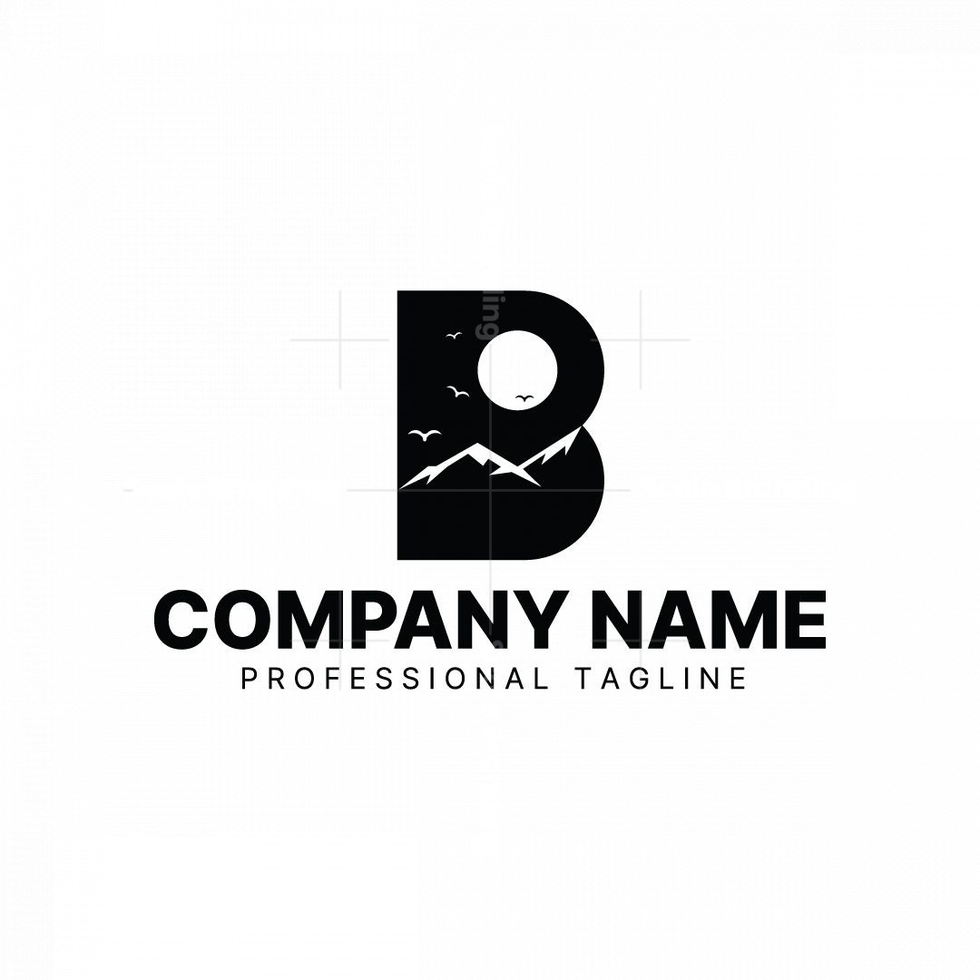 Letter B Night Logo