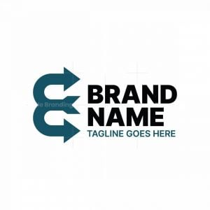 Letter E Double Arrow Logo