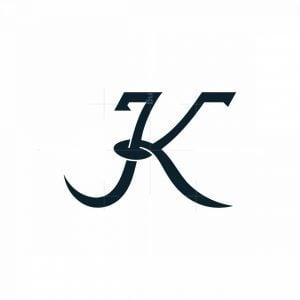 K Or Jk Elegant Logo