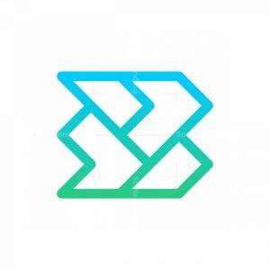 Letter B Monoline Logo