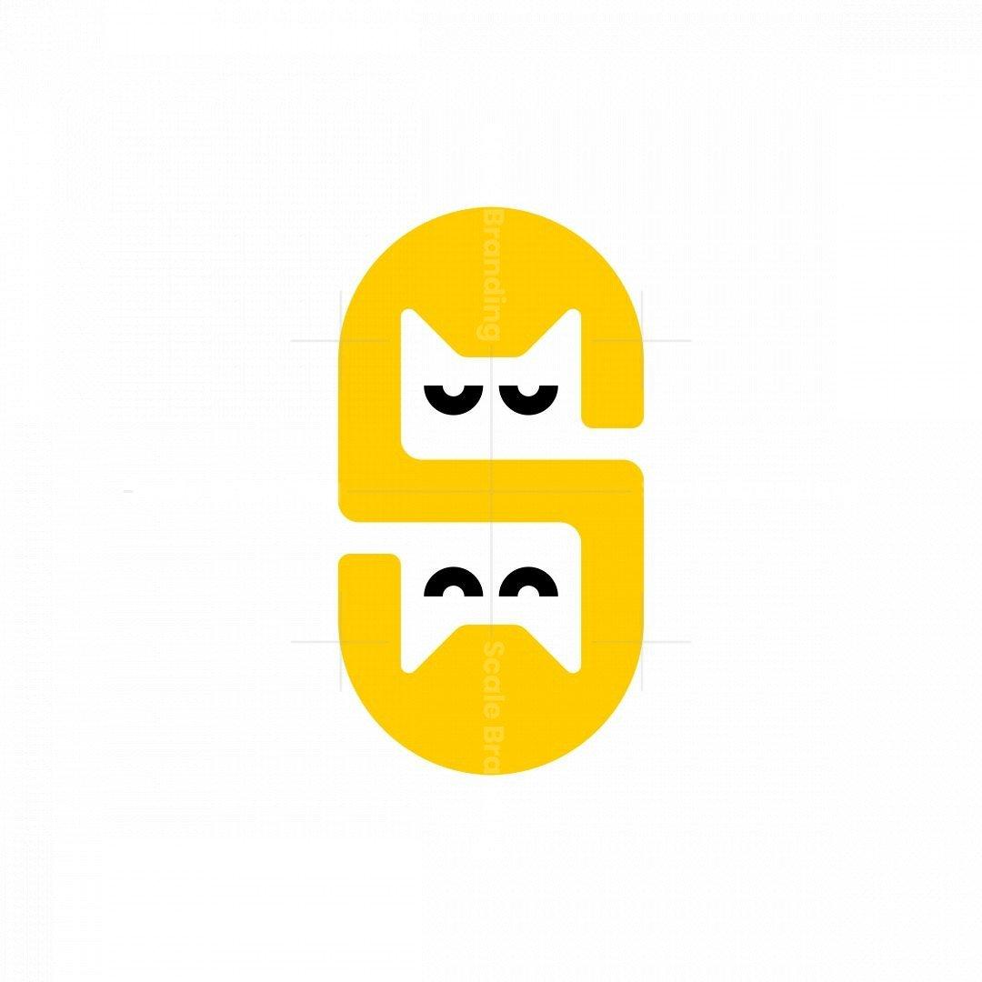 Letter S Cat Logo