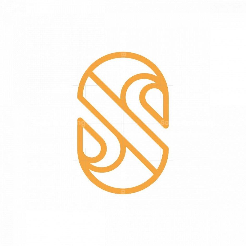 Letter S Swan Logo