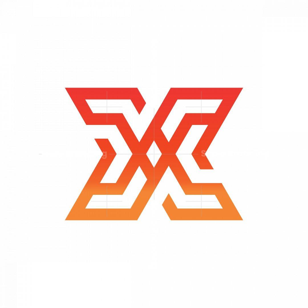 Letter X Technology Monogram Logo