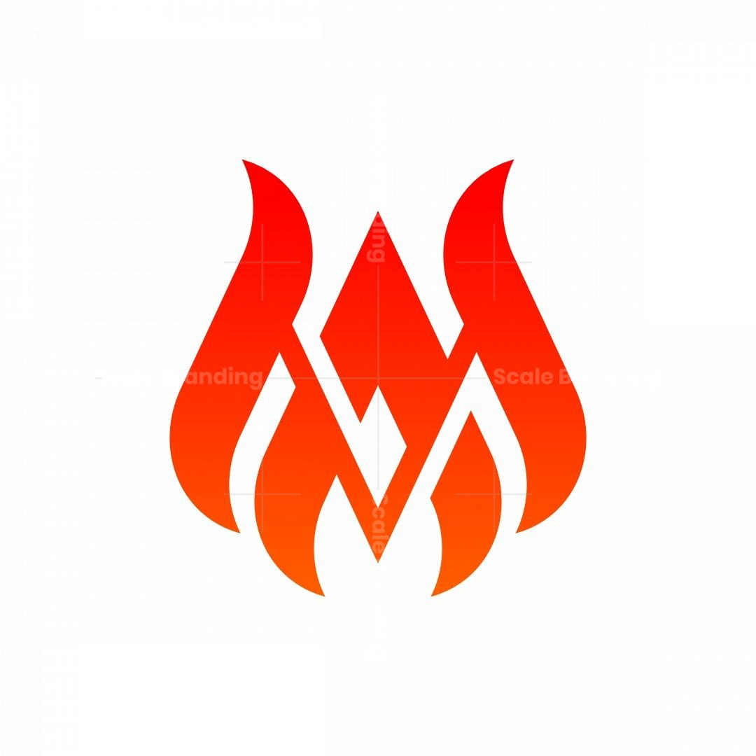 Letter Ma Fire Monogram Logo