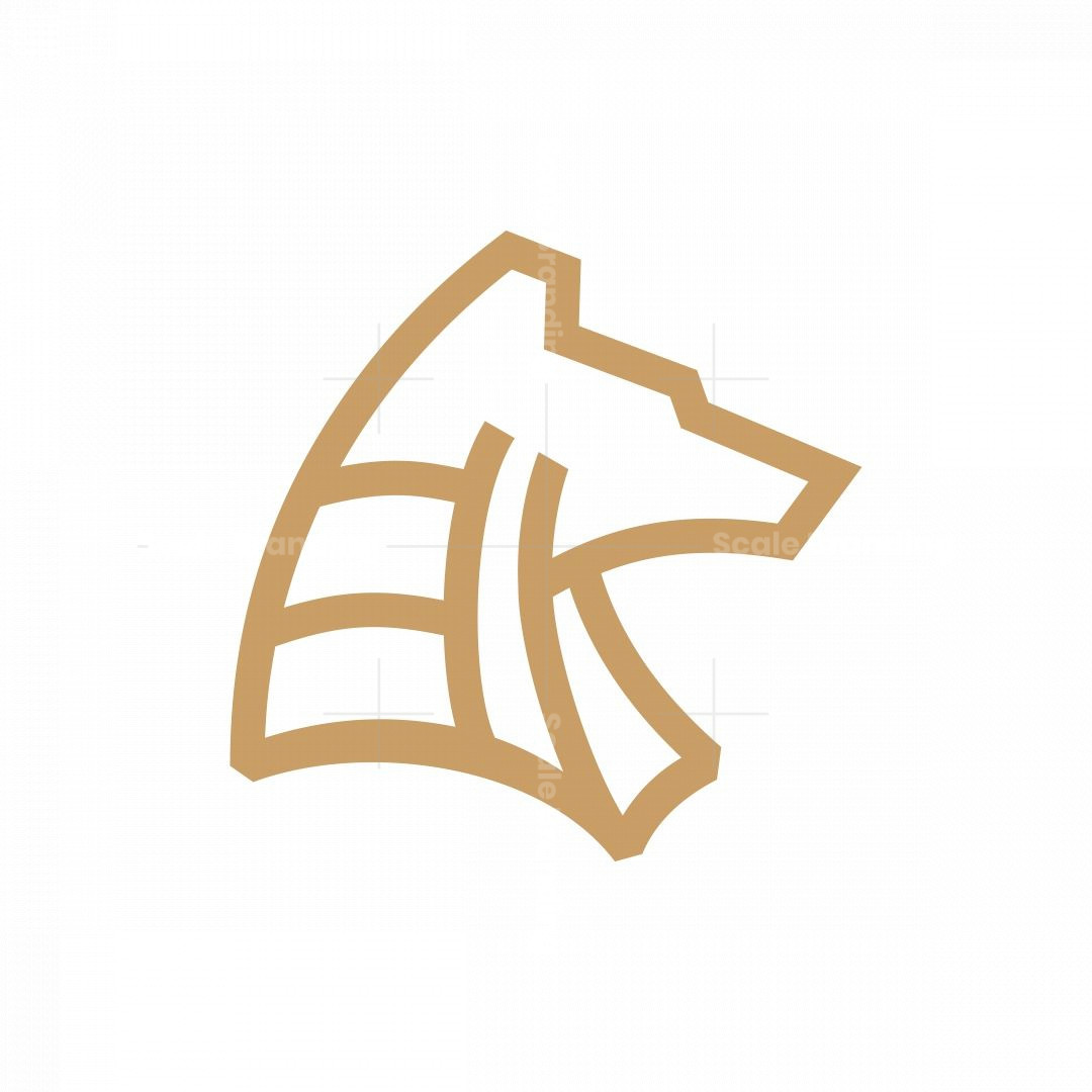 Minimalist Anubis Head Logo