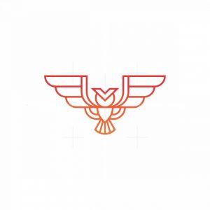 Monoline Owl Logo