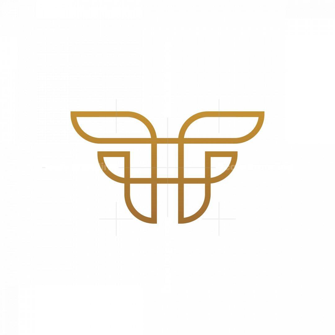 Monoline Letter Ff Logo.