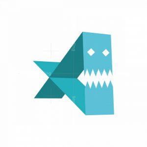 Piranha X Fish Logo