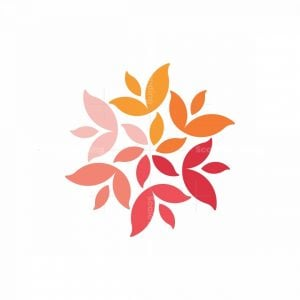 Rainbow Flower Logo