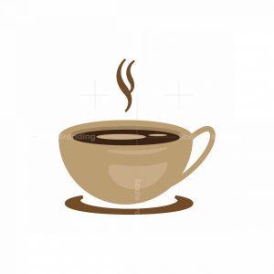 Flat Coffee Shop Logo