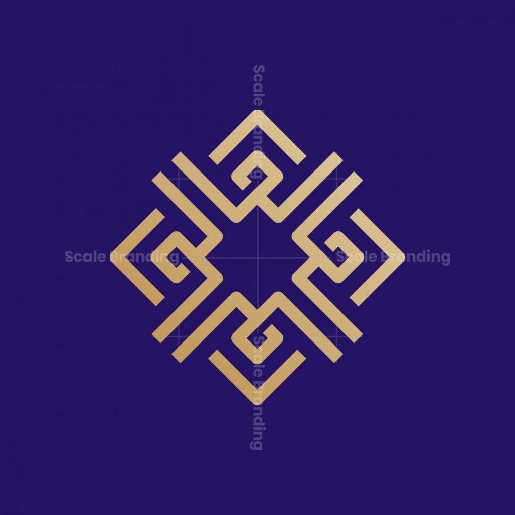 Square Ornament Monogram Logo