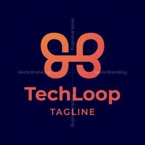 Tech Loop Letter B Logo