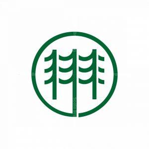 Triple Pine Mark Logo