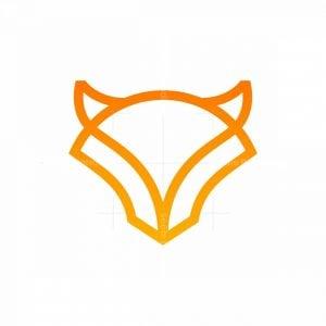 Minimalist Animal Wolf Mark Logo