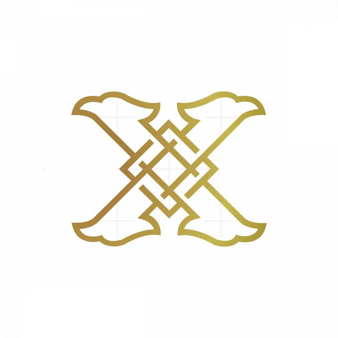 Monogram Letter X Eagle Logo