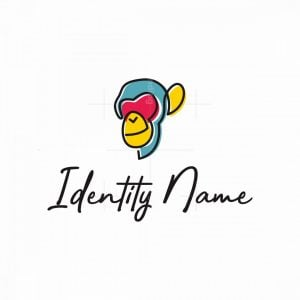 Colorful Ape Logo