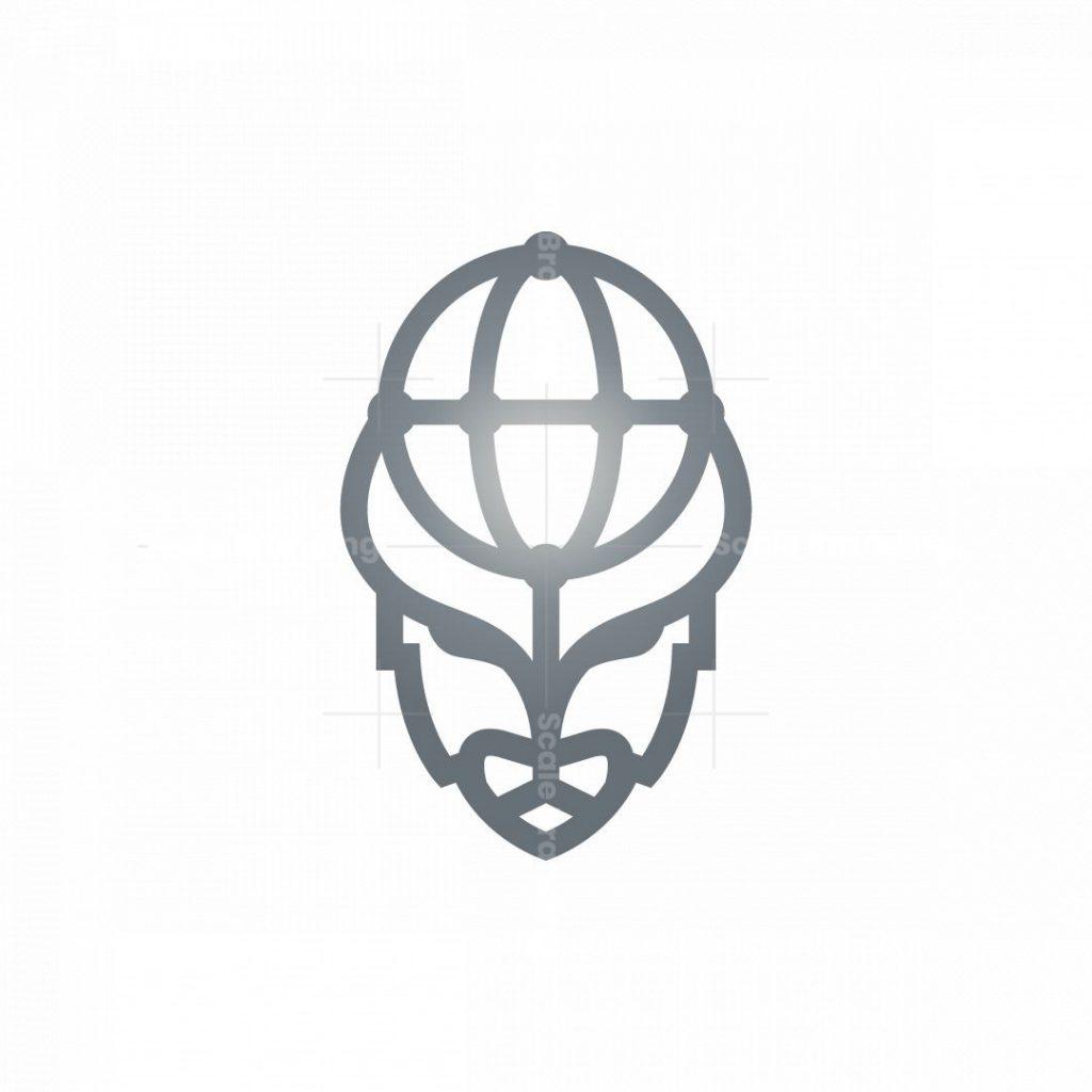 Global Bison Head Logo