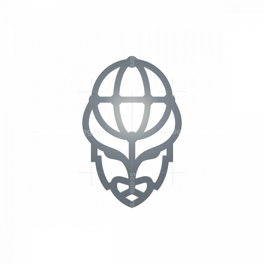 Global Bison Head Logo