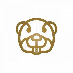 Golden Beaver Logo Beaver Head Logo