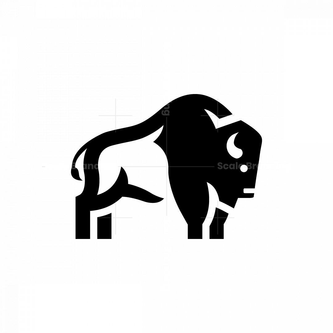 Huge Bison Logo Buffalo Logo