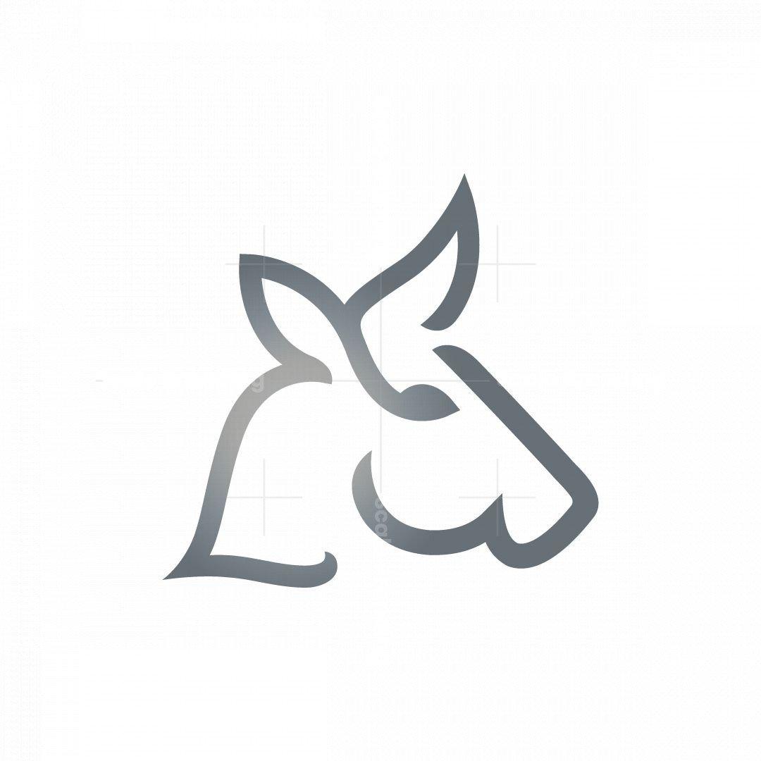 Letter L Bull Head Logo