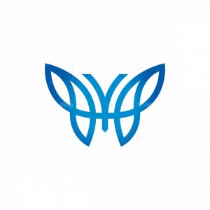 Letter Y Butterfly Logo
